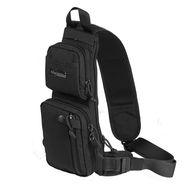 Однолямочный тактический рюкзак Kiwidition Muri City черный, фото 1