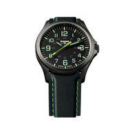 Часы Traser P67 Officer Pro GunMetal Black/Lime, каучуковый ремешок