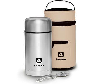 Термос Арктика для еды 1 литр, с чехлом и складной ложкой 301 1000A