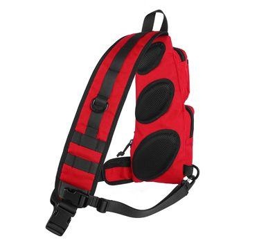 Однолямочный тактический рюкзак Kiwidition Muri City черный, фото 2