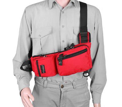 Однолямочный тактический рюкзак Kiwidition Muri City черный, фото 9