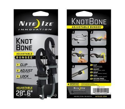 Такелажное крепление с карабином и веревкой Nite Ize Knotbone Adjustable Bungee #5 KBB5 03 01