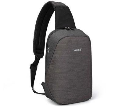 "Однолямочный рюкзак Tigernu T-S8061, серый, 11"", фото 1"