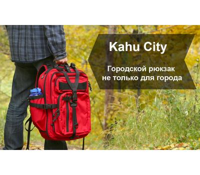 Рюкзак Kiwidition Kahu City 30, чёрный, фото 1
