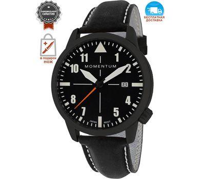 Часы Momentum Fieldwalker Automatic Black-ION, кожаный ремешок
