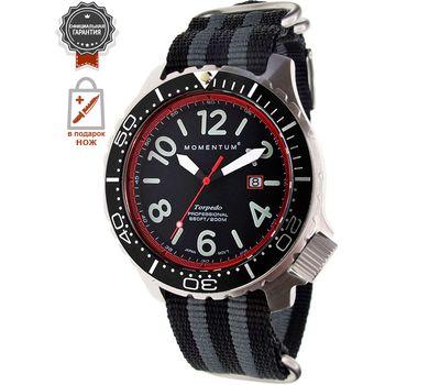 Часы Momentum Torpedo Blast красный, нато полосатый