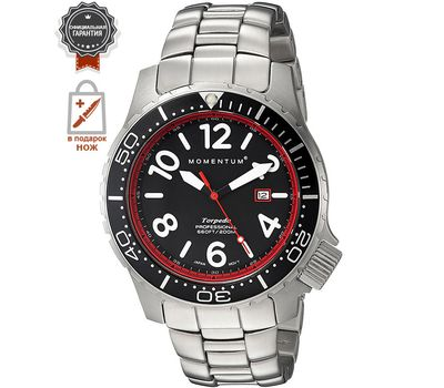 Часы Momentum Torpedo Blast красный со стальным браслетом