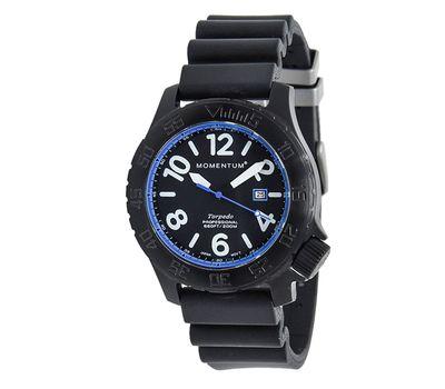 Часы Momentum Torpedo Blast Blue BLACK-ION (каучуковый ремешок), фото 1