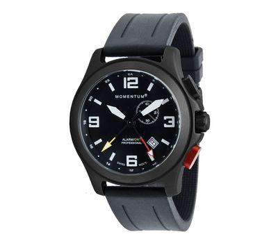 Часы Momentum Vortech GMT Alarm BLACK-ION (каучук, сапфир), фото 1