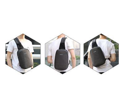 "Однолямочный рюкзак Tigernu T-S8061, серый, 11"", фото 2"