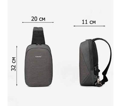 "Однолямочный рюкзак Tigernu T-S8061, серый, 11"", фото 3"