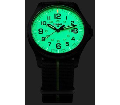 Часы Traser P67 Officer Pro GunMetal Lime, стальной браслет