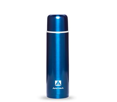 Термос Арктика литровый с узким горлом, классический, синий 102-1000, фото 1