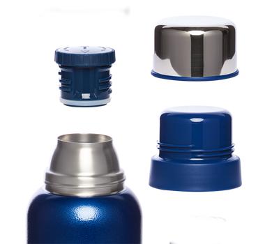 Термос Арктика 1.2 литра, американский дизайн, с узким горлом, синий 106-1200, фото 2