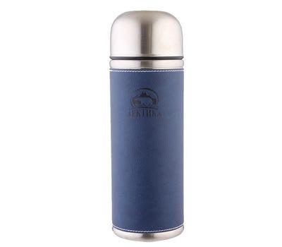 Термос Арктика с узким горлом 1 литр с кожаной вставкой, синий 108-1000, фото 1