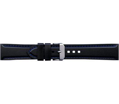 Ремешок каучуковый для часов №133, 22 мм с синей строчкой, фото 1