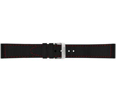 Каучуковый ремешок для часов Traser черный с красной строчкой №57, 22 мм, фото 1