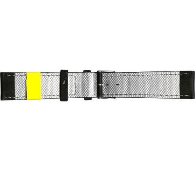 Кожаный ремешок для часов с белой строчкой, 22 мм, фото 2