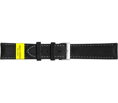 Кожаный ремешок для часов с белой строчкой, 22 мм, фото 1