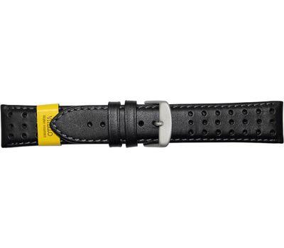 Ремешок для часов из перфорированной кожи, чёрный, 22 мм, фото 1