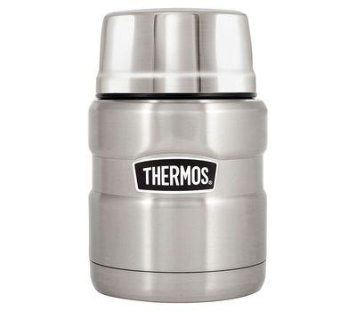 Термос для еды с широким горлом Thermos стальной, с ложкой SK3000, фото 2