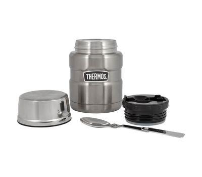 Термос для еды с широким горлом Thermos стальной, с ложкой SK3000, фото 3