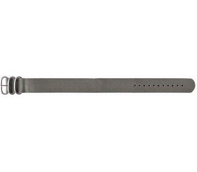 Текстильный ремешок для часов Traser серый №22, 22 мм, фото 1