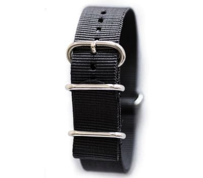 Нейлоновый ремешок для часов NATO, чёрный, 22 мм, фото 1