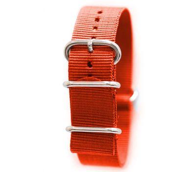 Нейлоновый ремешок для часов NATO Red, 22 мм, фото 1