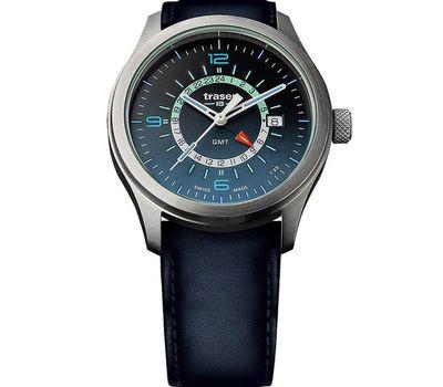 Часы Traser P59 Aurora GMT Blue, кожаный ремешок, фото 1
