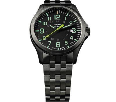 Часы Traser P67 Officer Pro GunMetal Black/Lime, сталь, фото 1