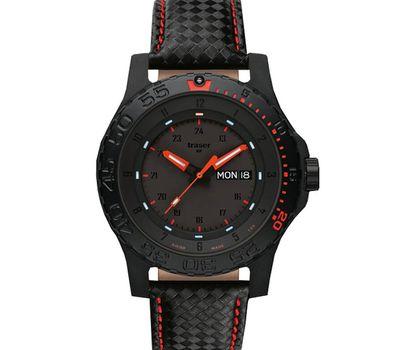 Часы Traser P 6600 Red Combat с кожаным ремешком, фото 1