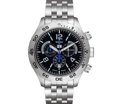 Часы Traser T5 Elegance Chronograph со стальным браслетом, фото 1