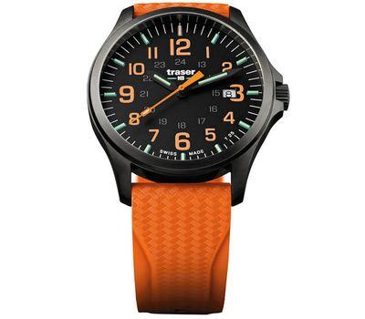 Часы Traser P67 Officer Pro GunMetal Black/Orange, силикон, фото 1