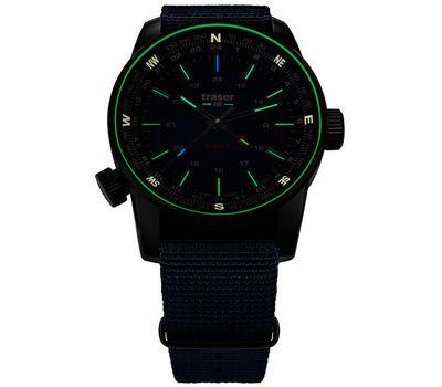 Часы Traser P68 Pathfinder GMT Blue, каучуковый ремешок, 109030, фото 2