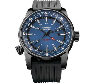 Часы Traser P68 Pathfinder GMT Blue, каучуковый ремешок, 109030, фото 1