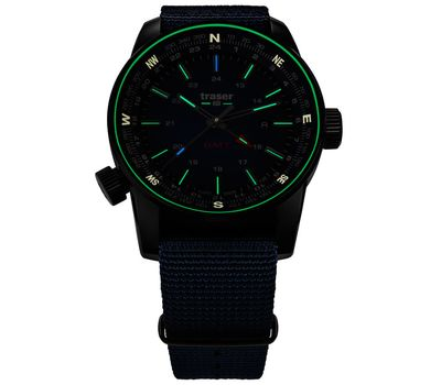 Часы Traser P68 Pathfinder GMT Blue, синий нато 109034, фото 2