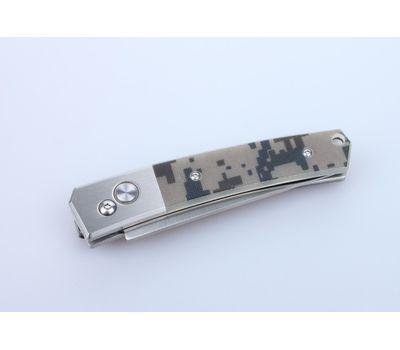 Складной нож c кнопкой Ganzo G7361 CA, накладка цифравой камуфляж, сталь 440C