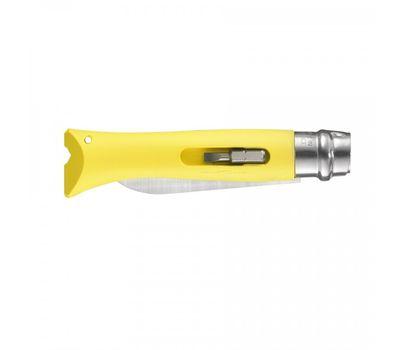 Складной нож Opinel №09 DIY, нержавеющая сталь, сменные биты, желтый