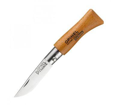 Складной нож Opinel №2 углеродистая сталь, рукоять из дерева бука
