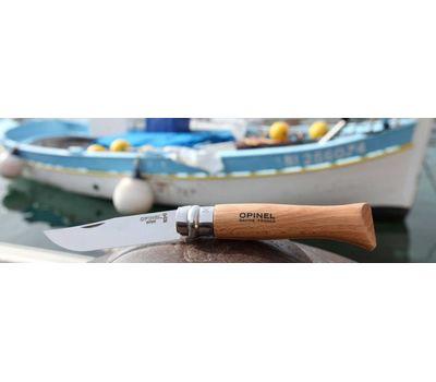 Складной нож Opinel №7, нержавеющая сталь, рукоять из бука