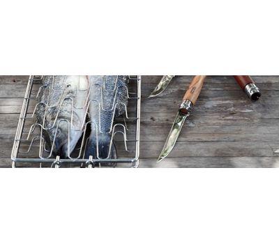 Складной филейный нож Opinel №10, нержавеющая сталь, рукоять бубинга