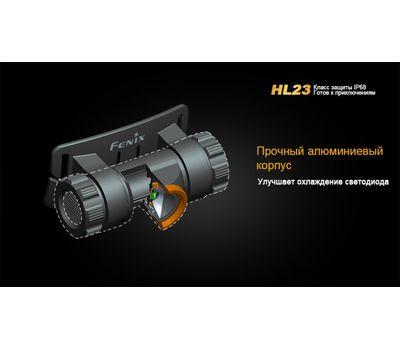 Налобный светодиодный фонарь Fenix HL23, серый, 150 люмен