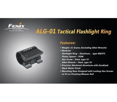 Крепление на оружие для фонарей на планку Пикатинни Fenix ALG 01