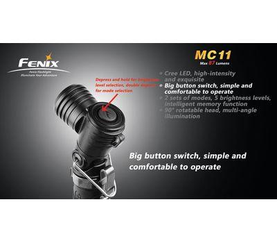 Г образный фонарь Fenix MC11 Cree XP G2 R5, 155 люмен