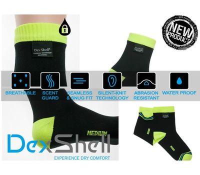 Водонепроницаемые носки Dexshell Ultralite Biking - лето, жёлто-чёрные, фото 1