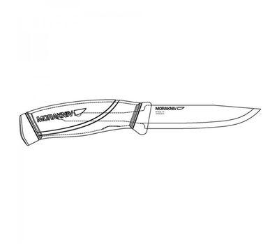 Нож Mora Morakniv Companion Black, нержавеющая сталь