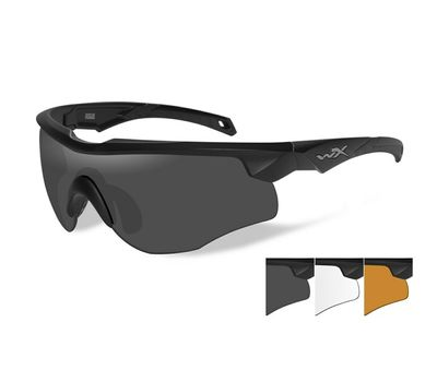 Стрелковые очки Wiley-X Rogue 2802 (серый / чистый / желтый), фото 1