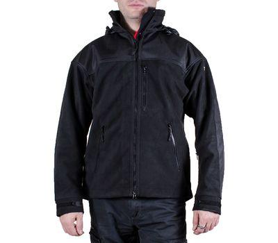 Куртка Штурм, чёрная - мембрана, флис, кордура, фото 2
