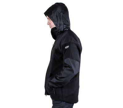 Куртка Штурм, чёрная - мембрана, флис, кордура, фото 3